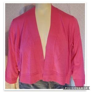 CJ Banks Sweater Shrug Plus Sz 3X NEW